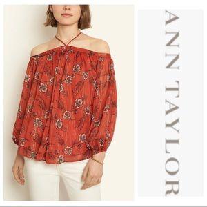 NWT Ann Taylor Floral Off the Shoulder Halter